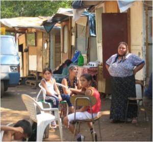 Rom: Rumänische Roma im Lager Centocelle, September 2009 (Foto: Amnesty International)