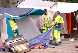 Räumung eines Roma-Camps in Frankreich