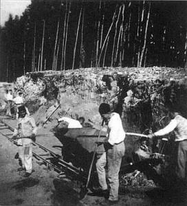 Steinbruch in Lety 1940 (Foto: Radio Prag)