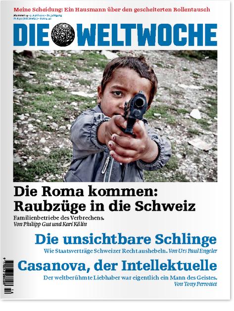 Geht's noch tiefer? Titelseite der Weltwoche 2012