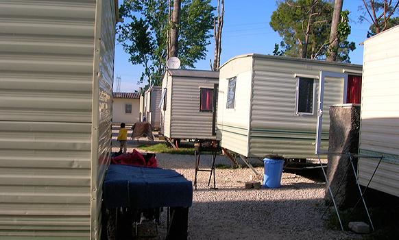 Roma-Camp in Rom (Foto: Ö1)