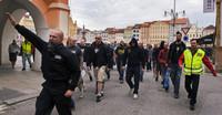 Neonazi-Aufmarsch gegen Roma in Budweis (Foto: Romea.cz)