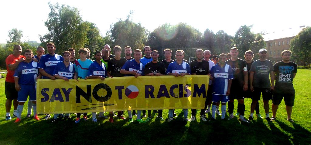 """Say NO to Racism"" (via Romea.cz)"