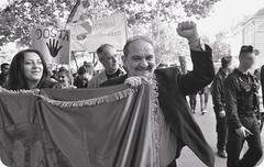 Aldar Horvath bei einer antirassistischen Kundgebung (Foto: dieschwelle.de)
