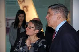 März 2015: Romani Rose führte die Präsidentin Bettina Limperg durch die ständige Ausstellung zum Holocaust an den Sinti und Roma (Foto: sintiundroma.de
