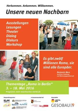 """""""Unsere neuen Nachbarn"""": Programmübersicht """"Roma in Berlin"""" (PDF)"""