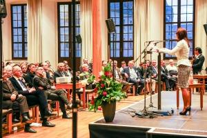 Marcella Reinhardt, die Vorsitzende des Regionalverbandes der Sinti und Roma in Augsburg, am 17.2.2017 im Rathaus von Augsburg (Foto: Christian Menkel)