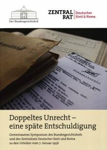 """Der BGH stellt sich seiner Geschichte: Broschüre """"Doppeltes Unrecht"""""""