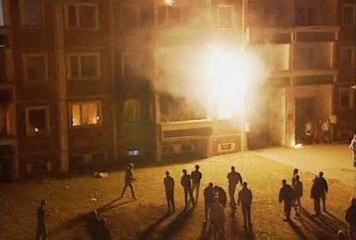 Deutschland im August 1992: Pogrom in Rostock-Lichtenhagen (Foto: