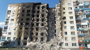 Ukraine: Zerstörtes Wohnhaus in der Donbass-Region (Foto: Ліонкінг/Wikimedia)