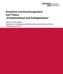"""Gutachten """"Protestantismus und Antiziganismus"""" in Deutschland (2017)"""