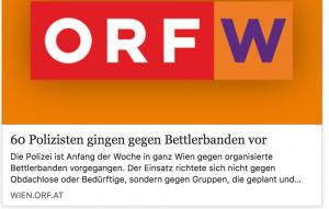 Schlagzeile auf ORF.at (Screenshot via Bettellobby Wien)