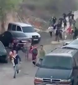 Kiew: Pogrom gegen Roma (Videostill: censor.net.ua)