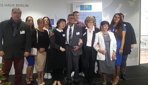 Preisverleihung an Matthäus Weiß (Foto: Minderheitensekretariat)