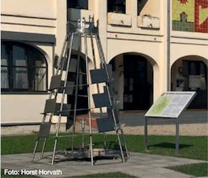 """""""Geschichtsskulptur"""" statt Gedenkenort in Kemeten (Foto: Horst Horvath, RomaCajtung)"""