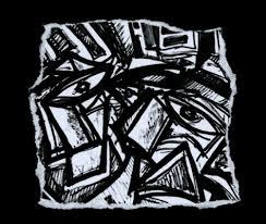 Gabi Jiménez, La fin du monde, 2018. 29,7 x 42 cm. Tinte auf Papier/Collage (Foto: Galerie Kai Dikhias)