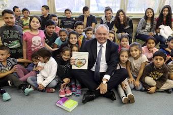 Präsident Kiska besuchte Roma-Jugend-Buchklub Palikerav (Foto: