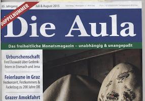 Hetze gegen NS-Opfer in der Aula: Titelblatt (Foto: haraldwalser.at)
